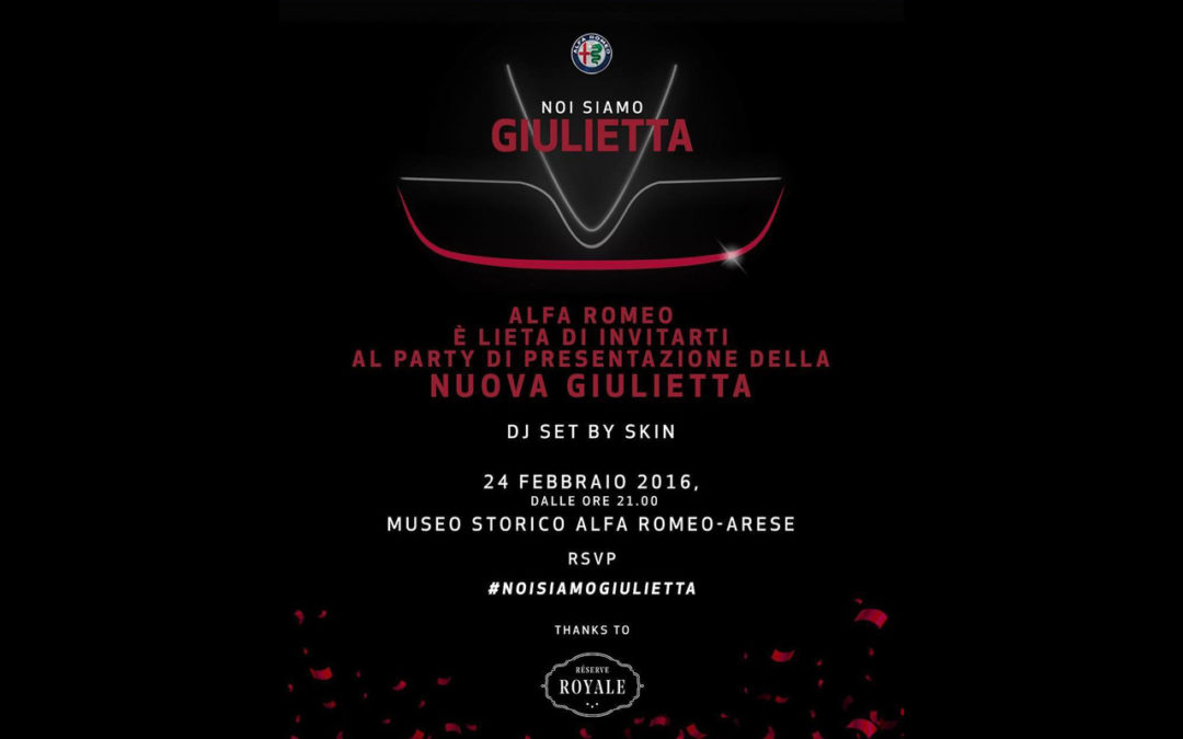 Unveiling party of the new Giuletta at the Alfa Romeo Museum